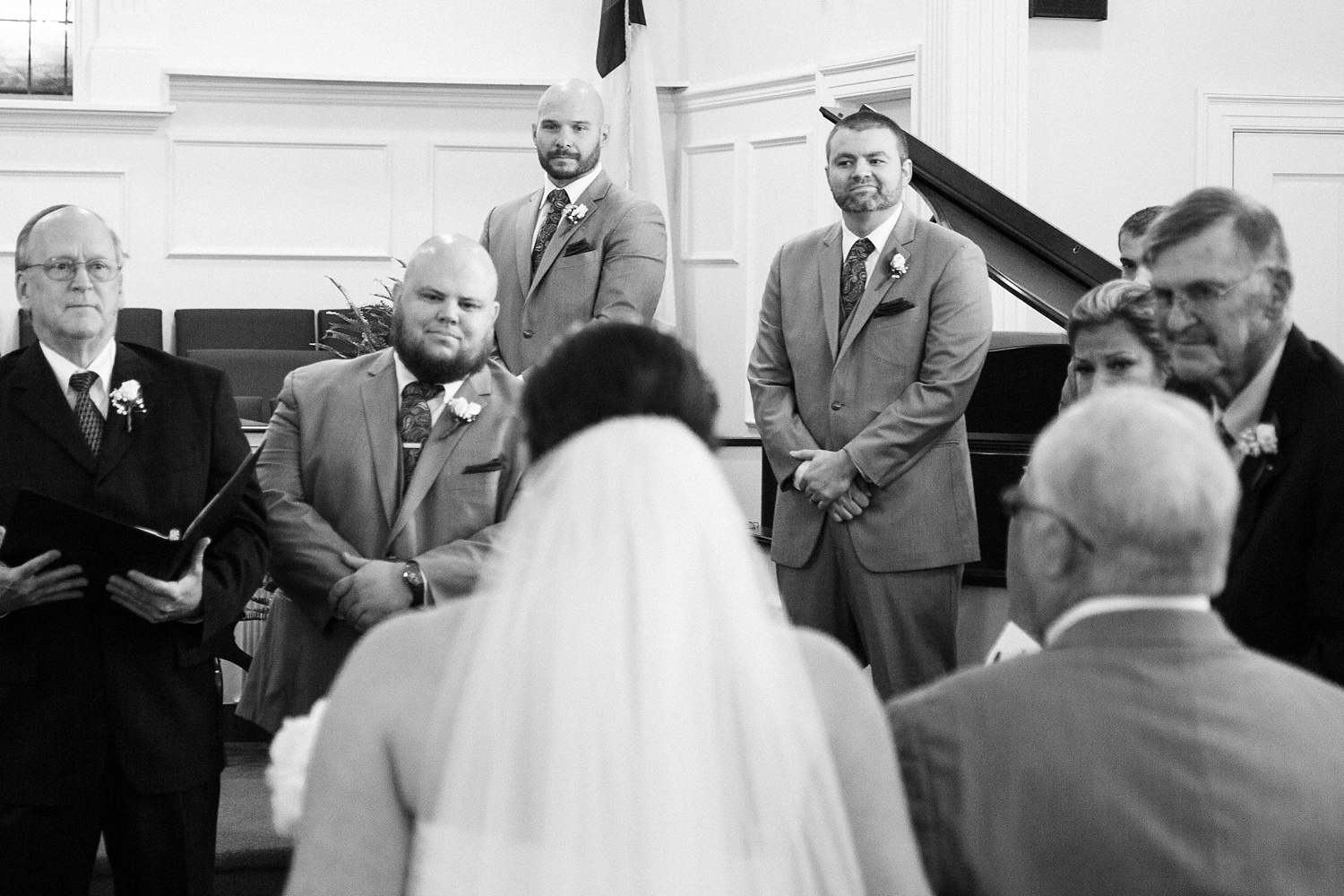 grooms reaction as his bride walks down the aisle