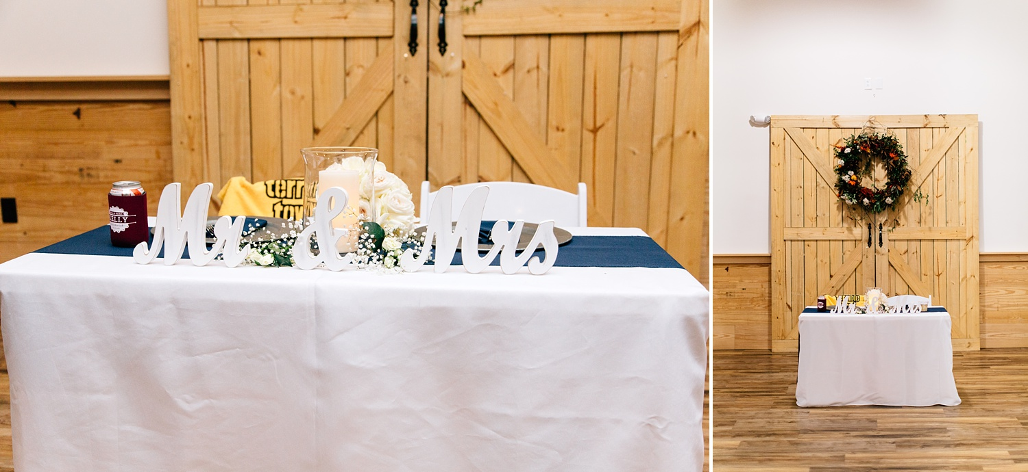 Fall wedding at The Cotton Barn in Winterville, NC by Rachael Bowman Photography