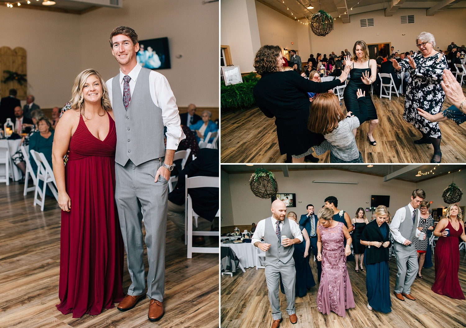 wedding reception at the cotton barn in winterville nc