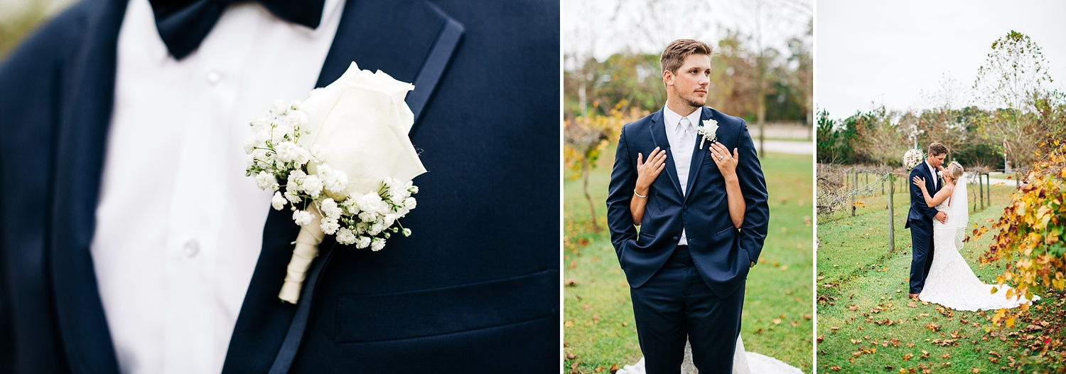 fall wedding at cape fear vineyard and winery in elizabethtown, nc by rachael bowman photography