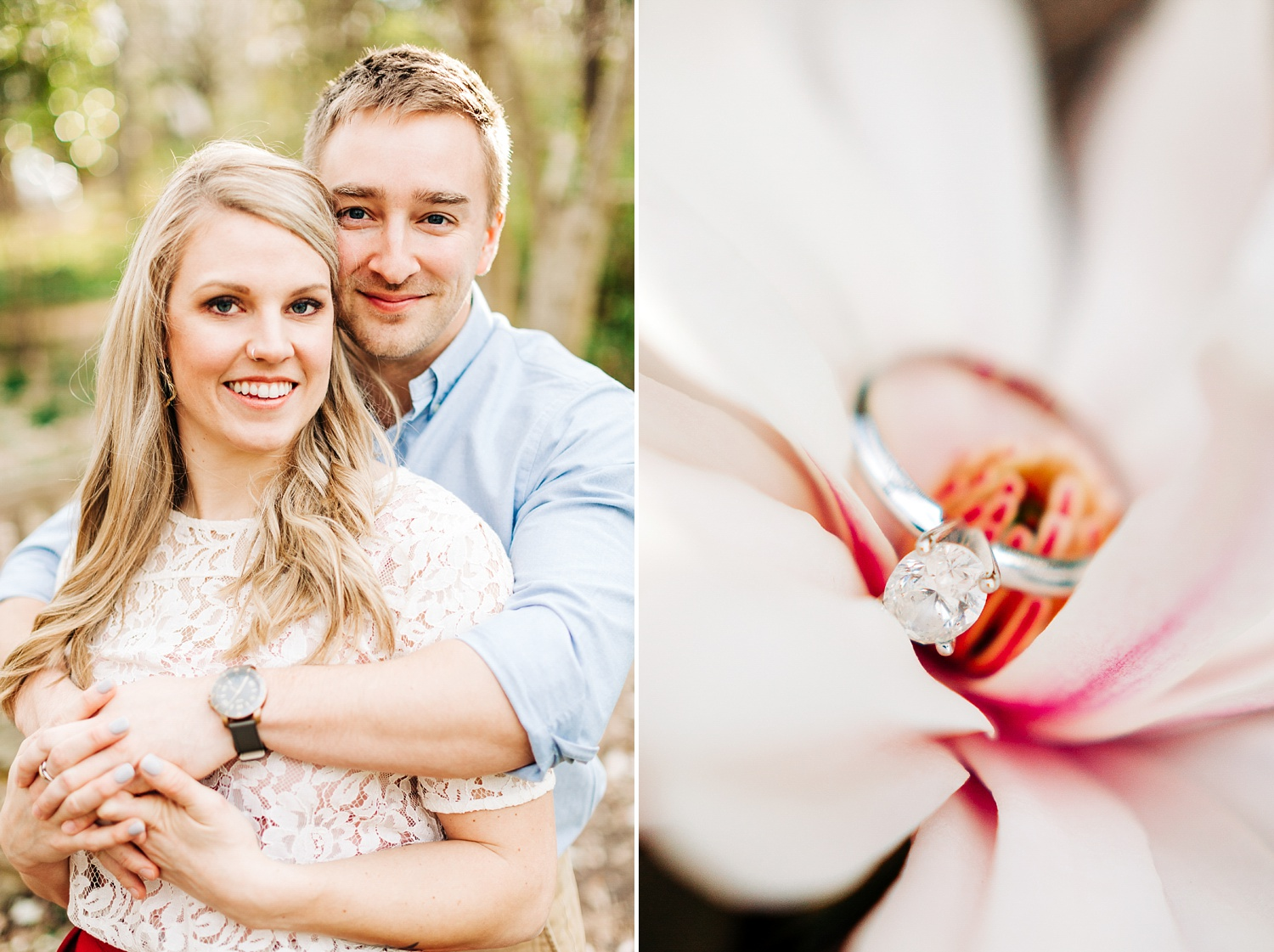 engagement session at coker arboretum in chapel hill, nc