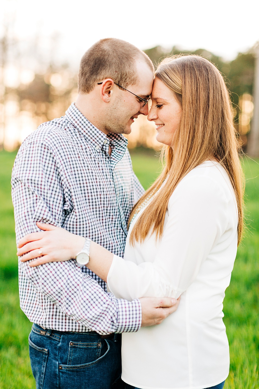 farm engagement session in zebulon, north carolina by rachael bowman photography