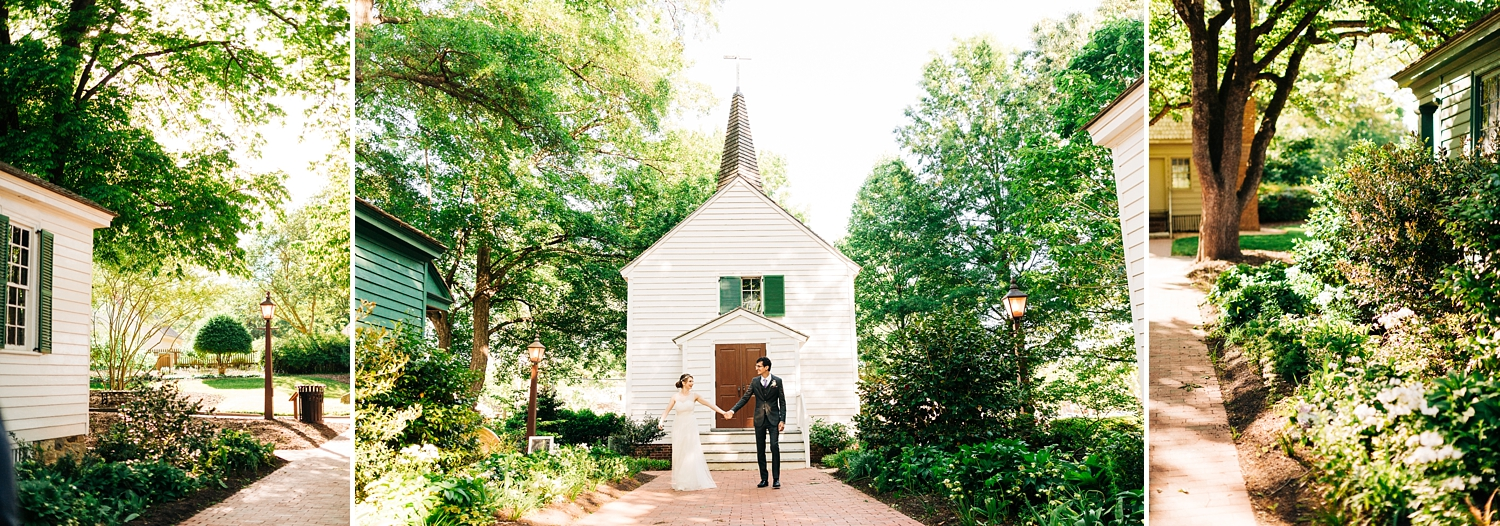 intimate wedding at st. mark's chapel in raleigh north carolina by rachael bowman photography