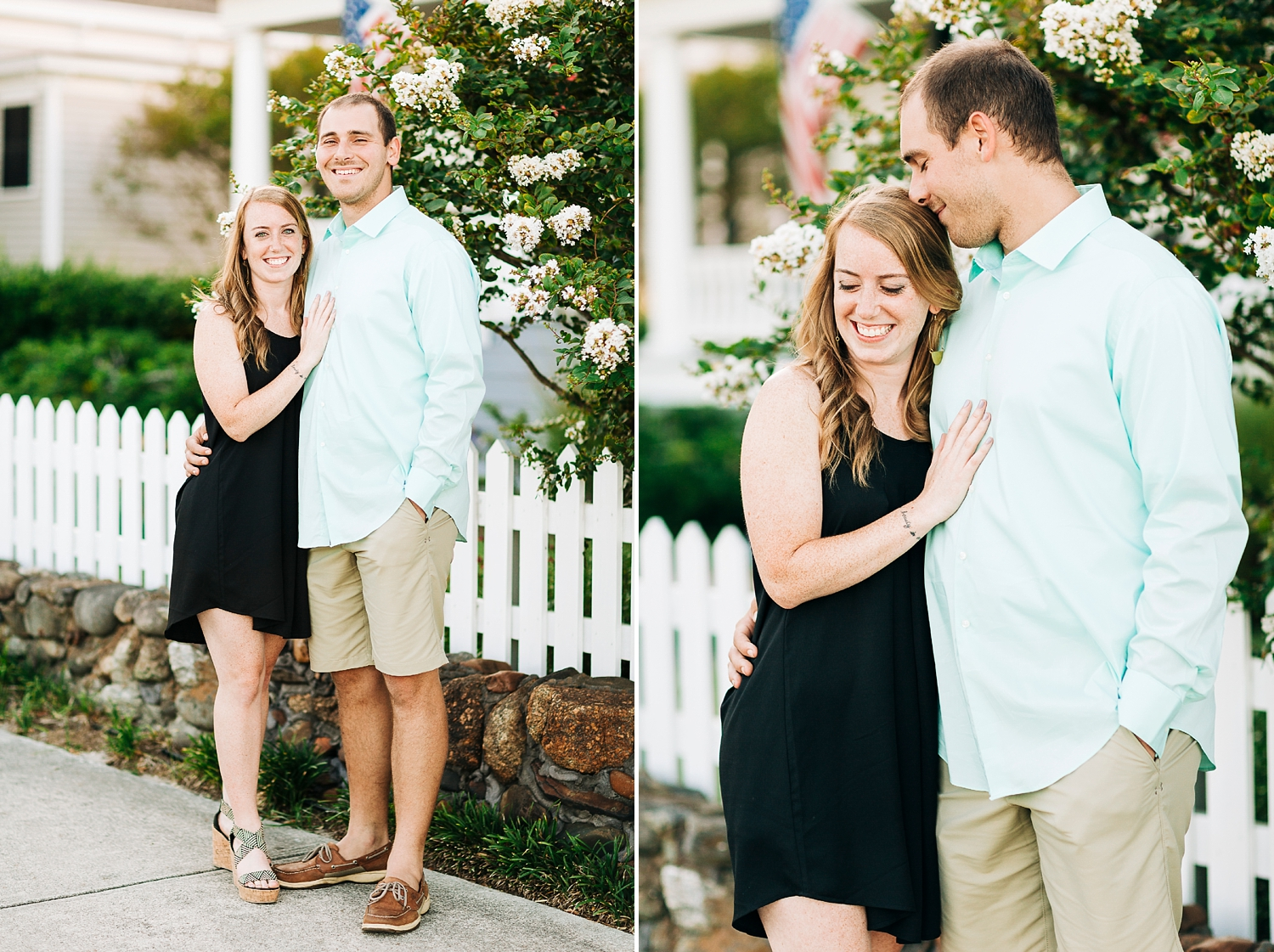 coastal engagement session in southport, nc