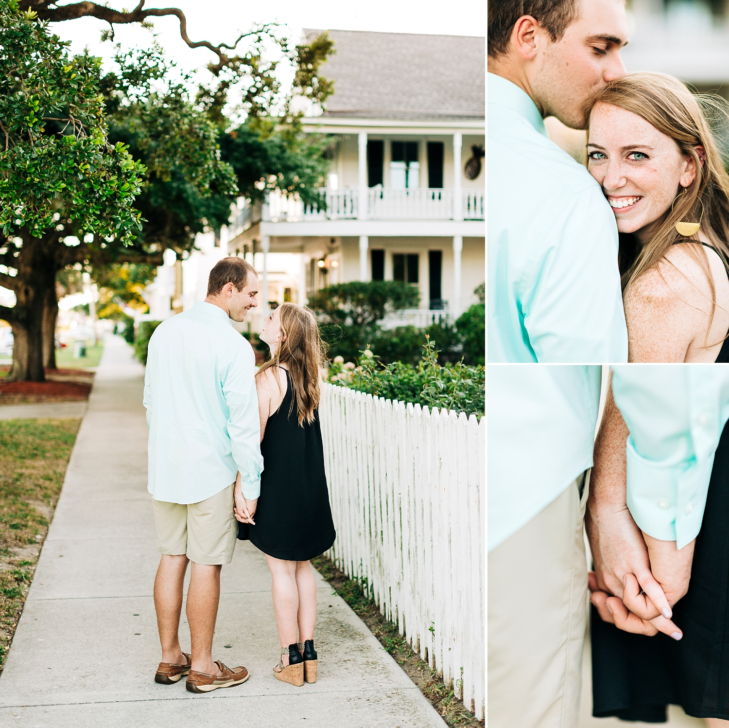 engagement session in the small coastal town of southport, north carolina.