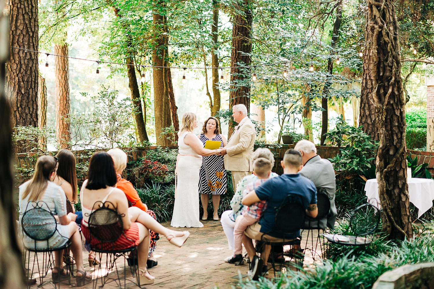 wedding ceremony in the country squire garden