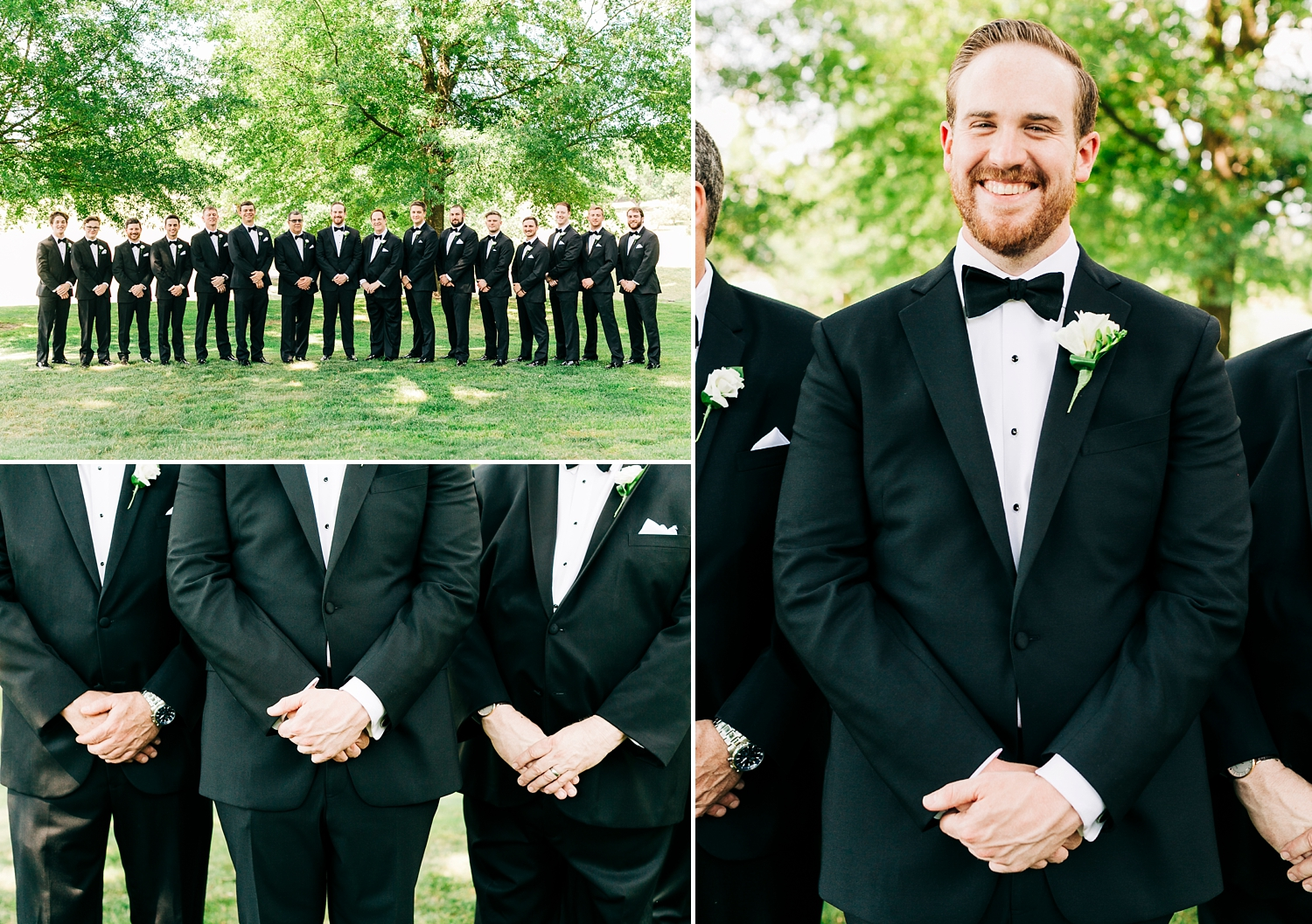 groom and his groomsmen on wedding day