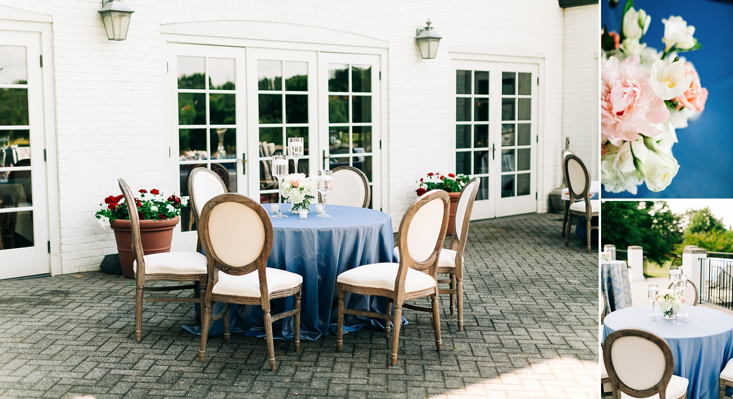 reception on the patio at danville golf club