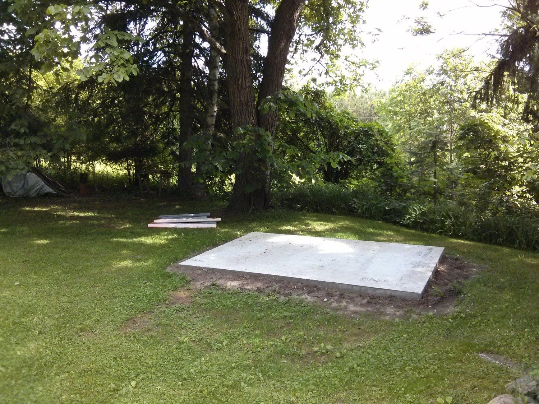 Concrete pad