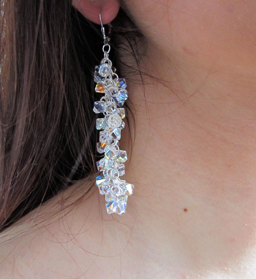 Long Swarovski   ® Earrings - Gianna Seca
