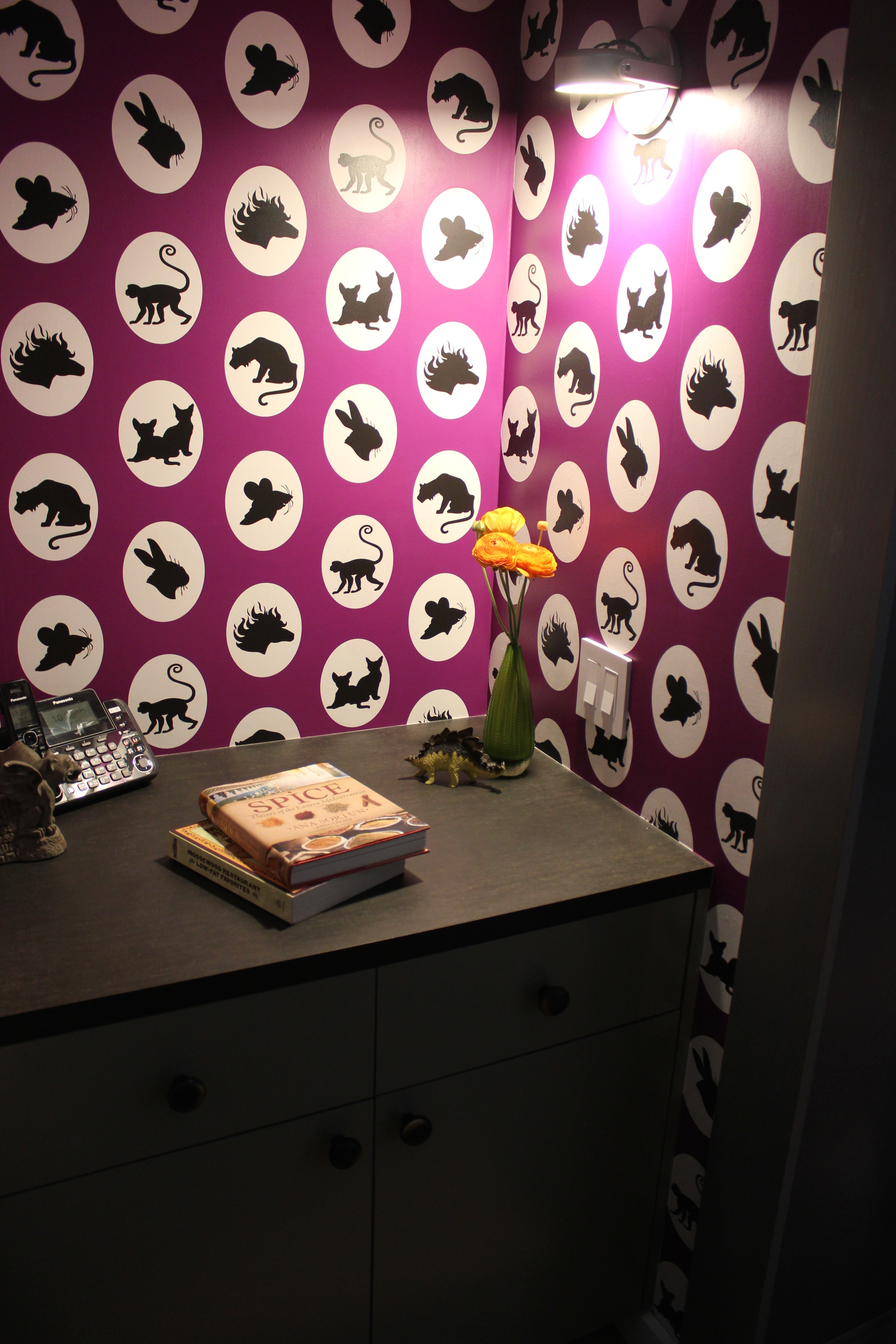 Bespoke wallpaper by Karen Blankenship.