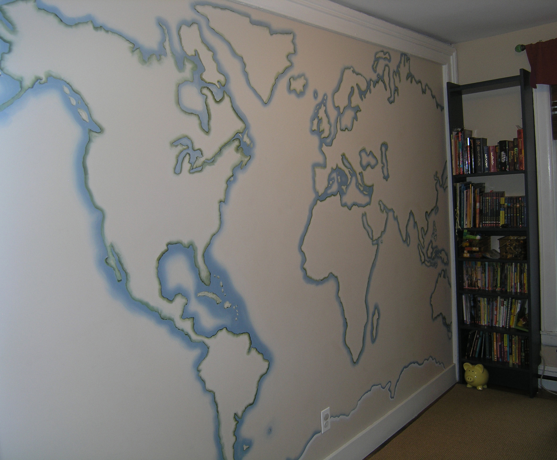 Hand painted wall.