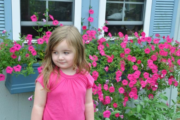 Tori in the Windsor family garden