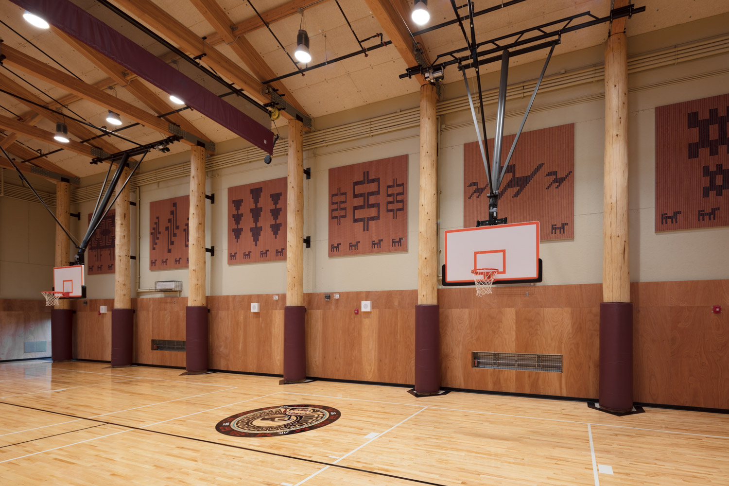 A tournament size gymnasium serves to bring regional tournaments and communities together during holidays, funerals, and large cultural celebrations.