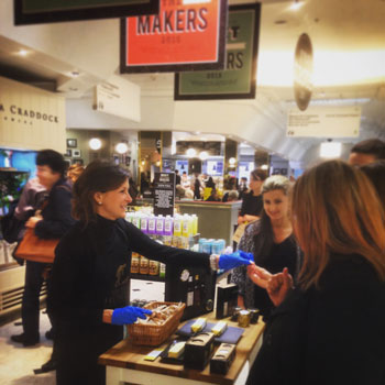 Photo: a recent tasting in Selfridges, London.