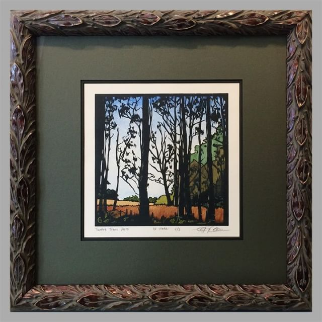 I love this Linocut artwork! We framed it in a gorgeous & unique Acanthus leaf frame, set against a triple mat in cream, black, and olive green. Isn't the finished product something special? Enjoy your weekend, and stop by to say HI if you're in the neighborhood! 🎨😁🎉 .. .. .. .. .. #PictureFraming #RealArt #RealArtChicago #Framing  #LocalBusiness #SmallBusiness #Art #LocalArt #decor #inspiration #photooftheday #instadaily #SupportLocal #customframing #ChicagoArt #ShopSmall #ShopLocal #TGIF #happyfriday #friyay