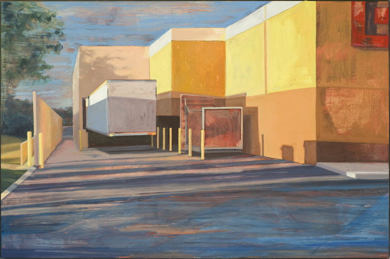 Dock   40 x 60 inches  oil on panel