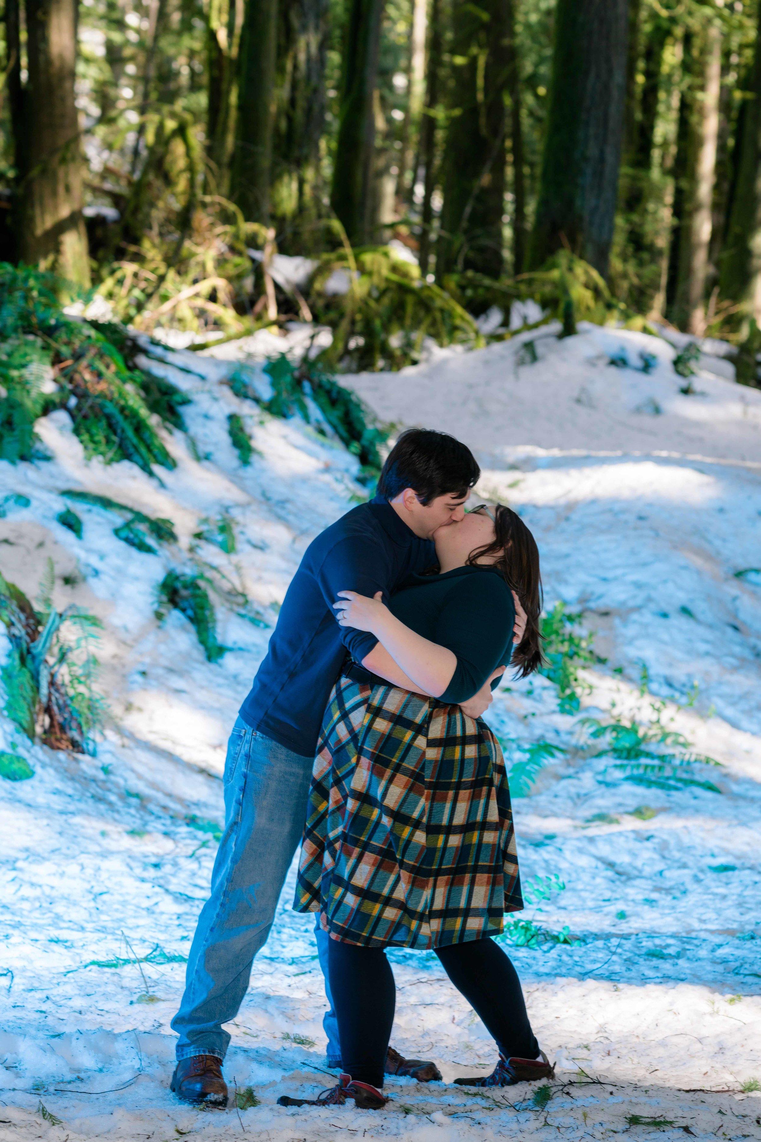 Mt. Hood engagement session with Portland Oregon wedding photographer.