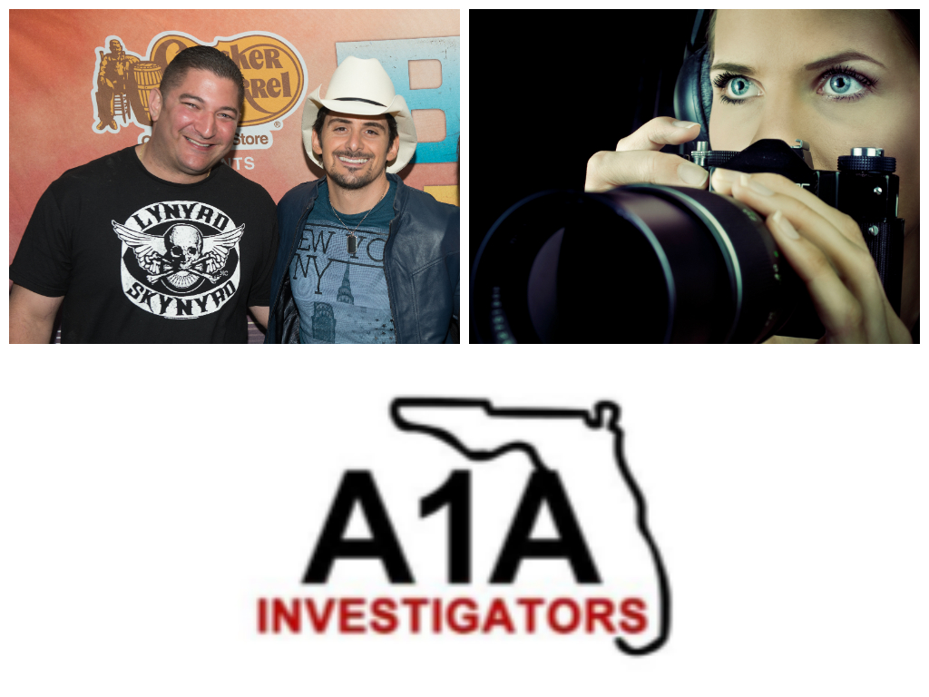Brad Paisley With Florida Private Detective Jim Wojnar Of A1A Investigators