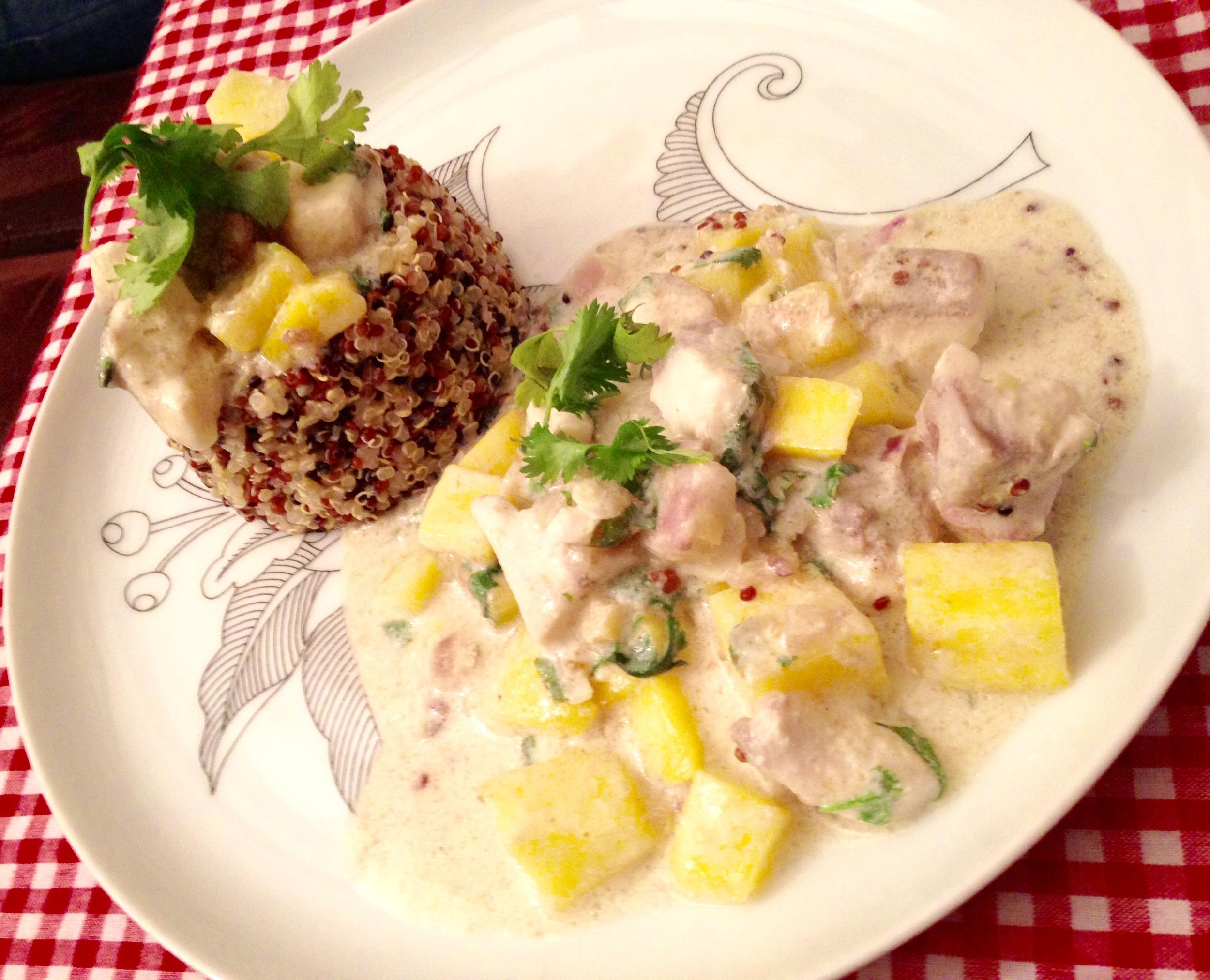 Sea bream green curry