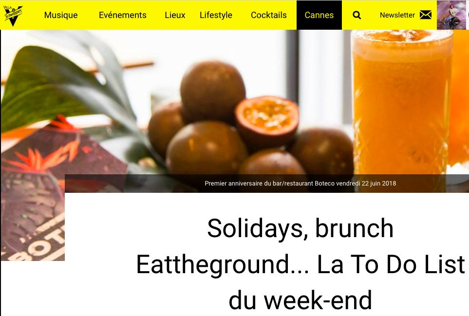 Villa Schweppes, Juin 2017 - La To-do du weekend: Brunch Ephémère