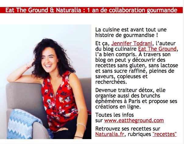 Newsletter Naturalia 2017/18 - 1 an de collaboration gourmande