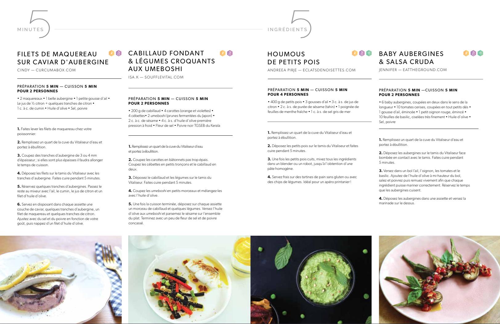 Magazine 95°, Juillet 2018 - 6 ingrédients, 5 min de préparation & 5 min de cuisson