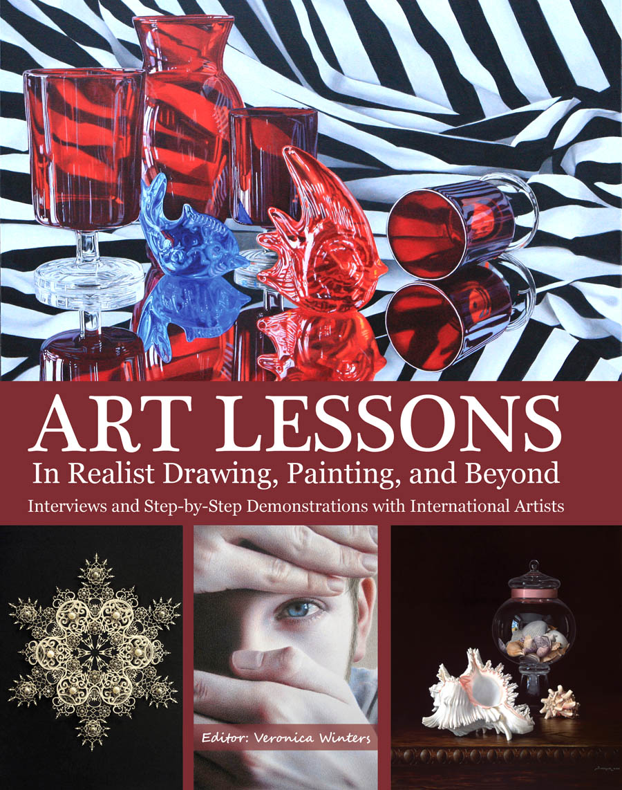 the cover of a book featuring artwork by various artists.