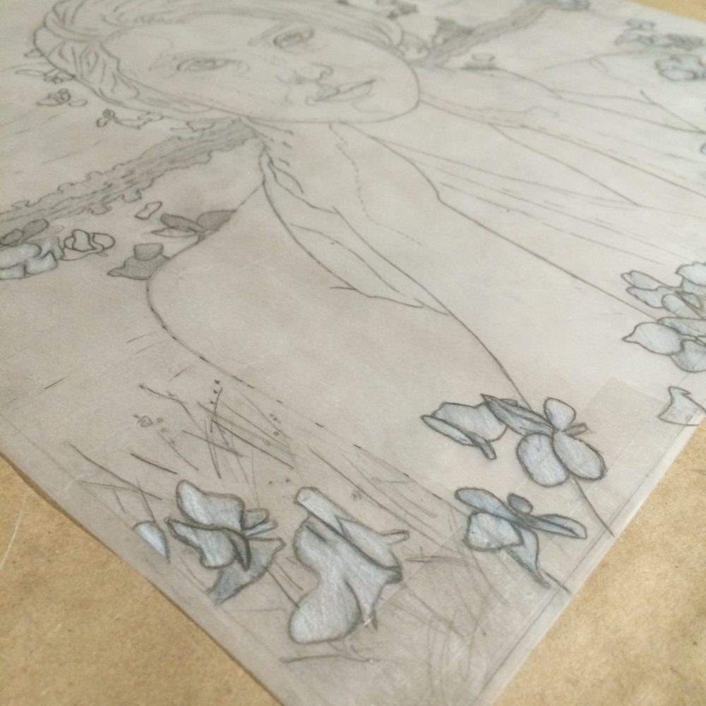Preparatory drawing for the painting entitled  Allure .