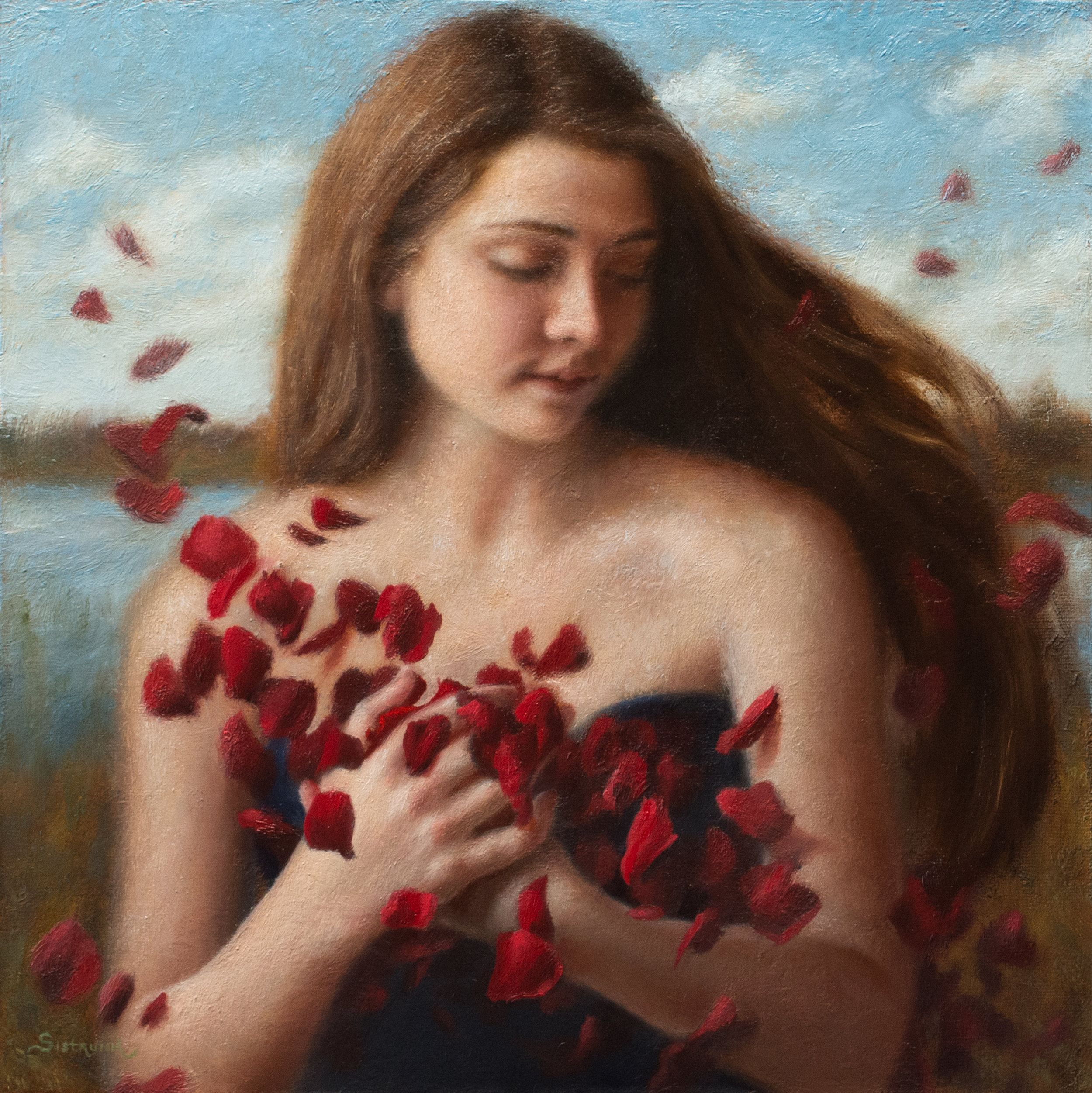 """Embrace   To experience love's warm embrace is one of the best feelings in the world! 12""""x12"""" Oil on Panel"""