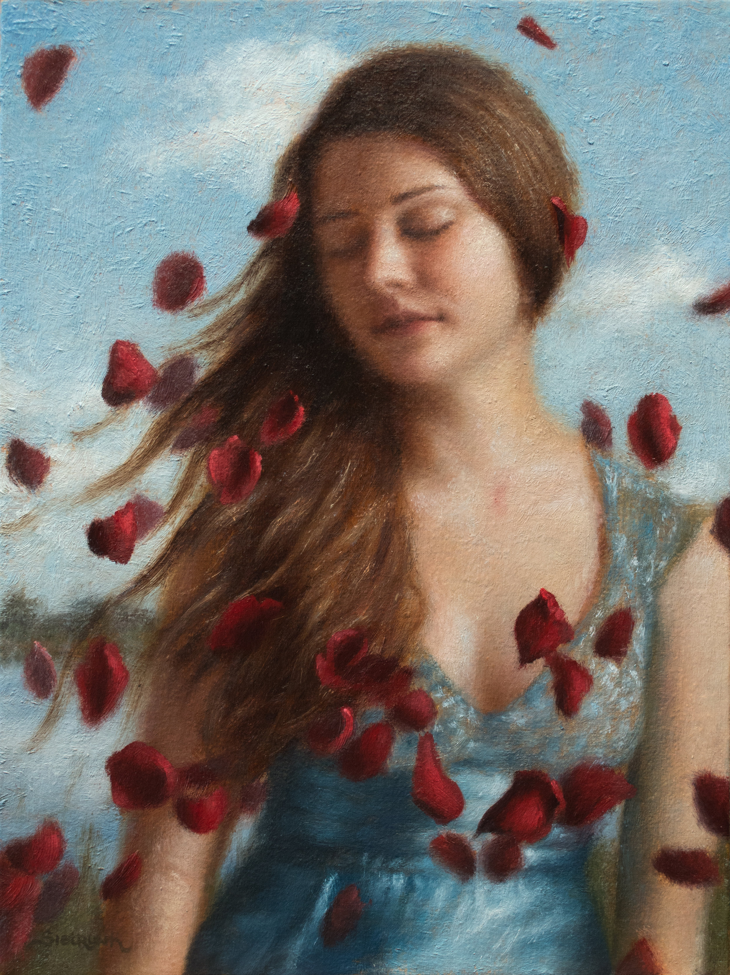 """Morning Breeze   I love the feel of a new morning - full of fresh air and possibilities. 12""""x9"""" Oil on Panel"""