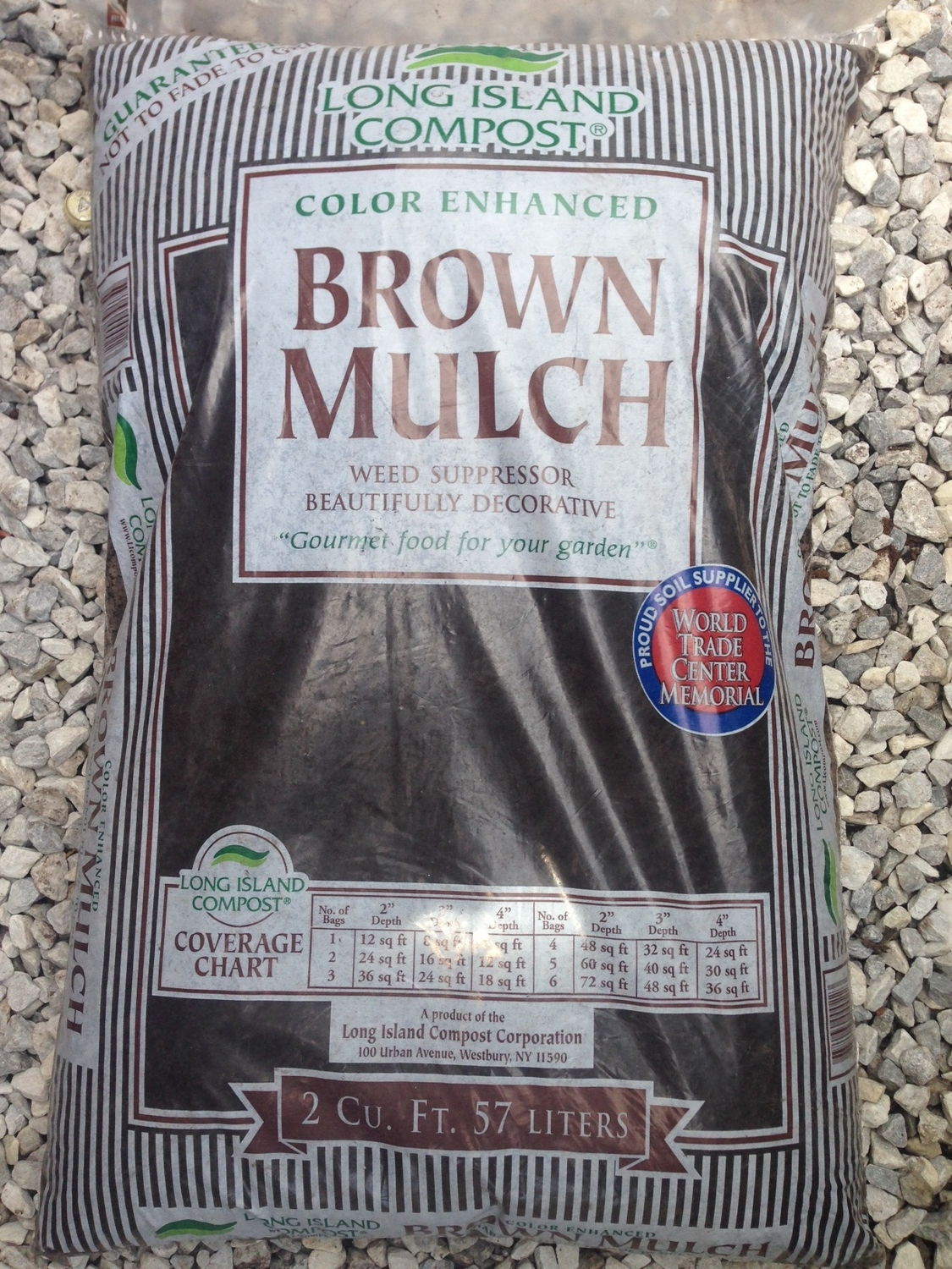 LongIsland Compost Brown Mulch