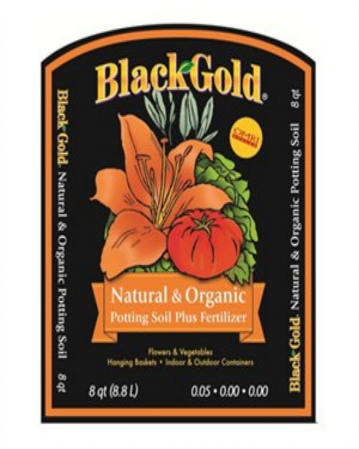 BlackGold Natural & Organic Potting Soil Plus Fertilizer