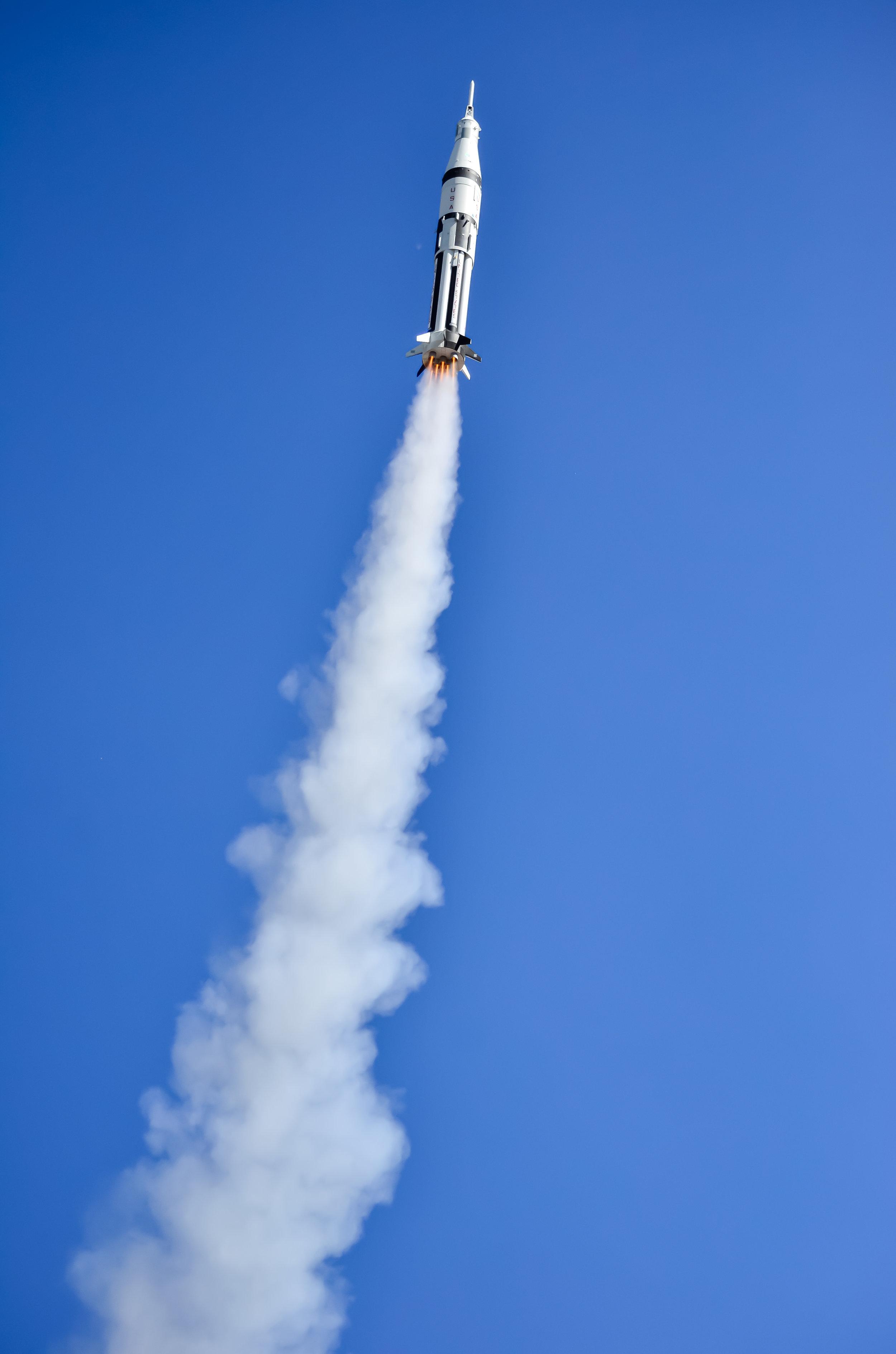 LIITLE JOE II MISSION A04 prototype liftoff / Старт прототипу  LIITLE JOE II MISSION A04. Model builder:NOWAK, Michael / ЗбудованоNOWAK, Michael