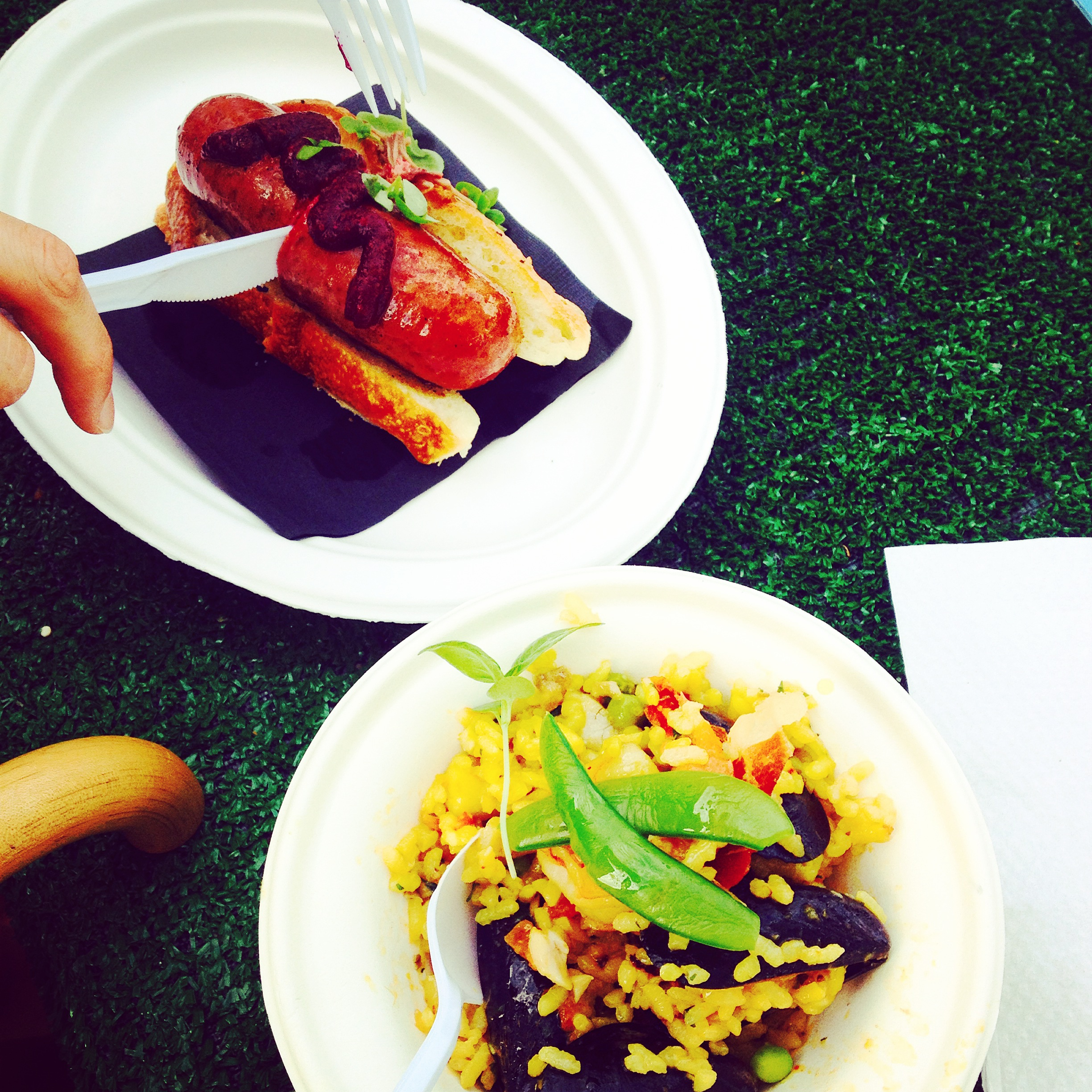 Weslodge's Wagyu Hot Dog & Patria's Seafood Paella