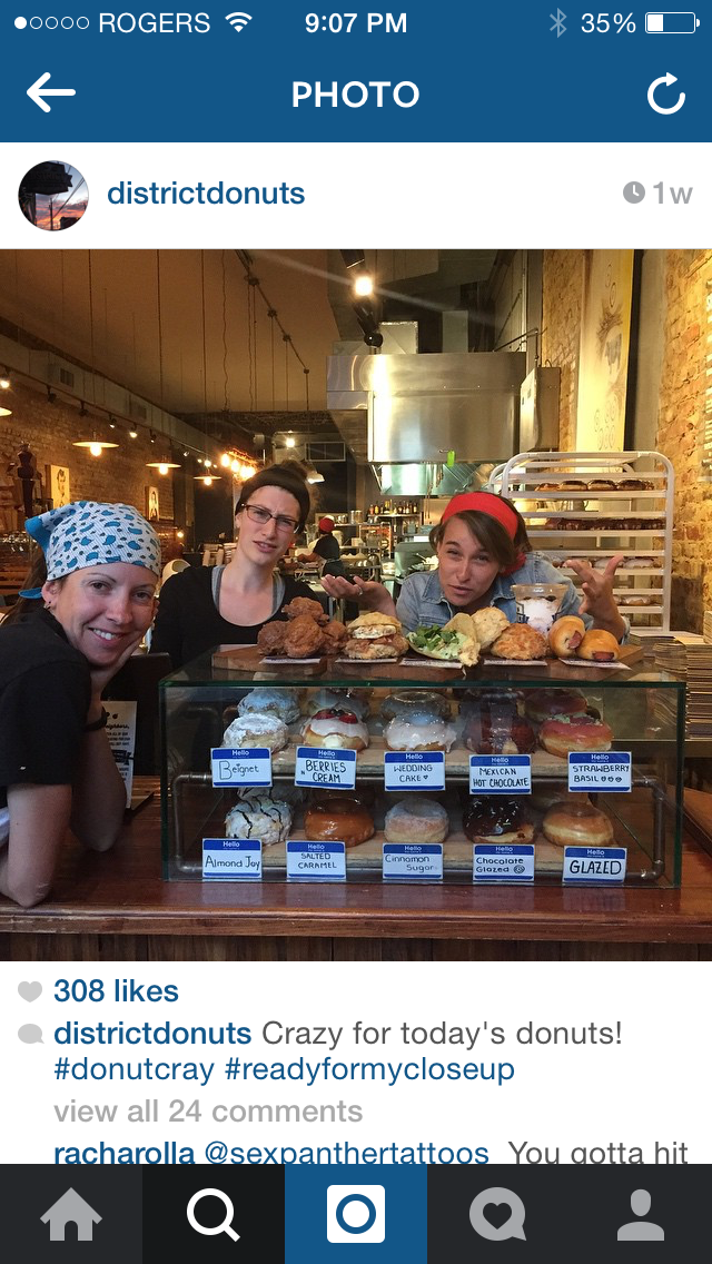 District Donuts Instagram feed the day we visited.