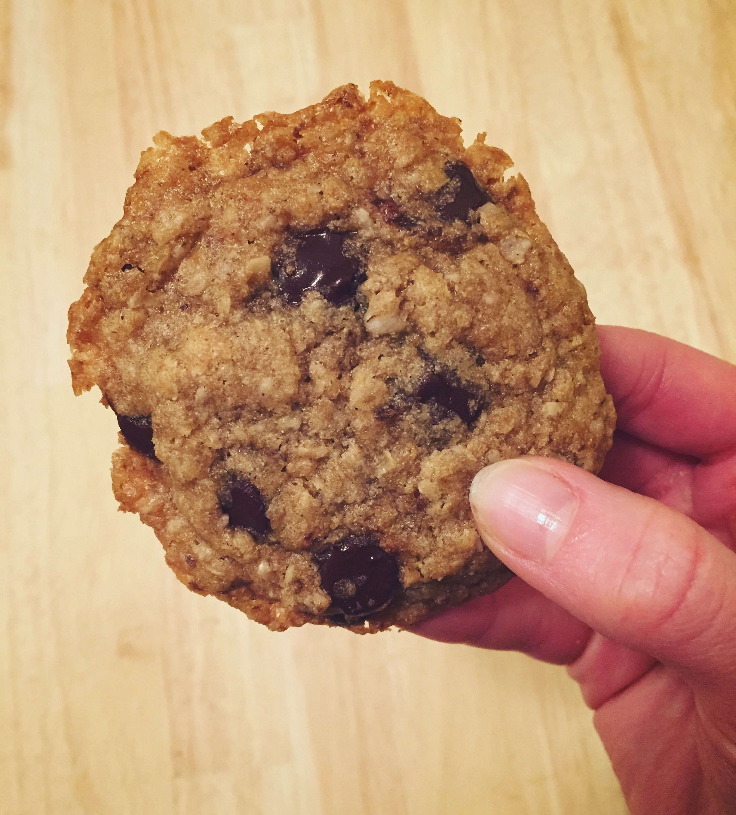 Gluten-Free, Vegan Oatmeal Chip Cookies