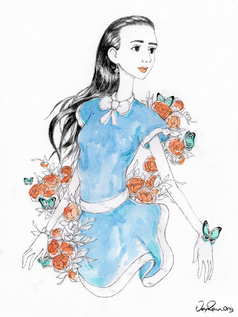 Fashion Illustration by JeyRam #Drawing #Art #Illustration