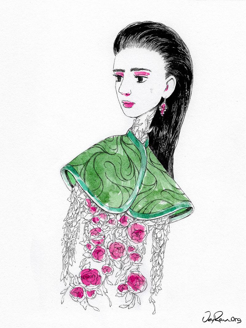 Fashion Illustration by JeyRam #Drawing #Art #Illustration #JeyRam