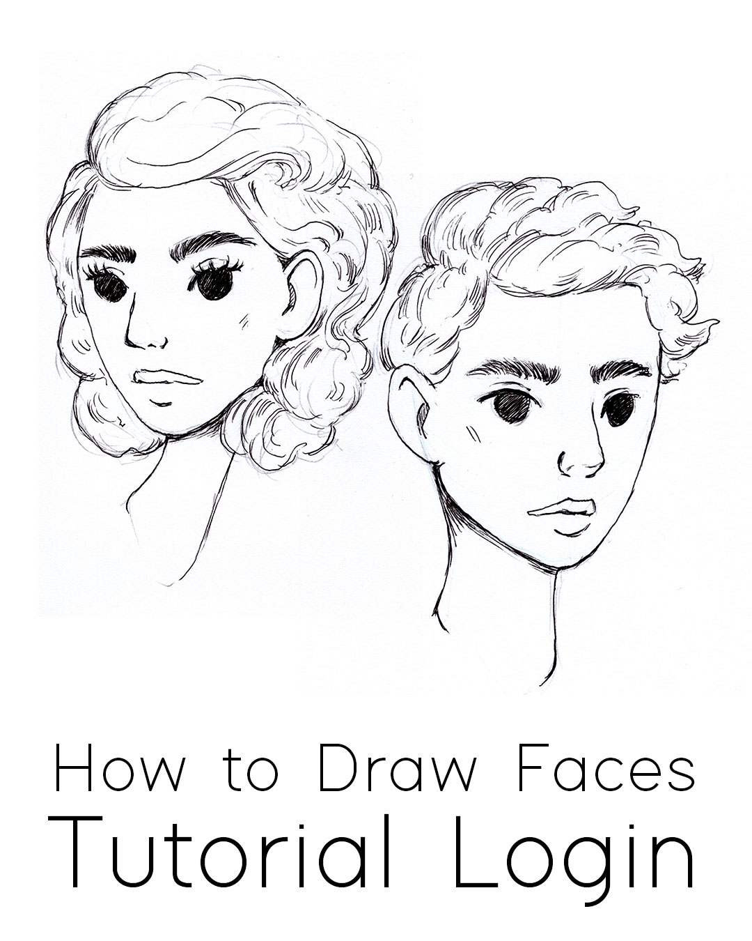 How to Draw Faces Tutorial, Step by Step Process for drawing people & Characters from imagination #tutorial #drawing #faces
