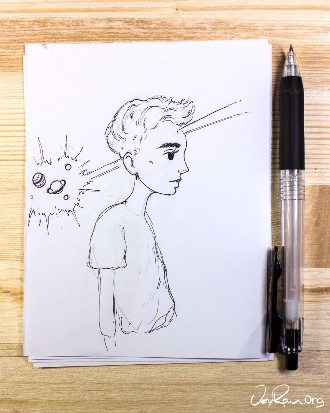 Step by Step drawing Tutorials for the Face & Eyes by JeyRam