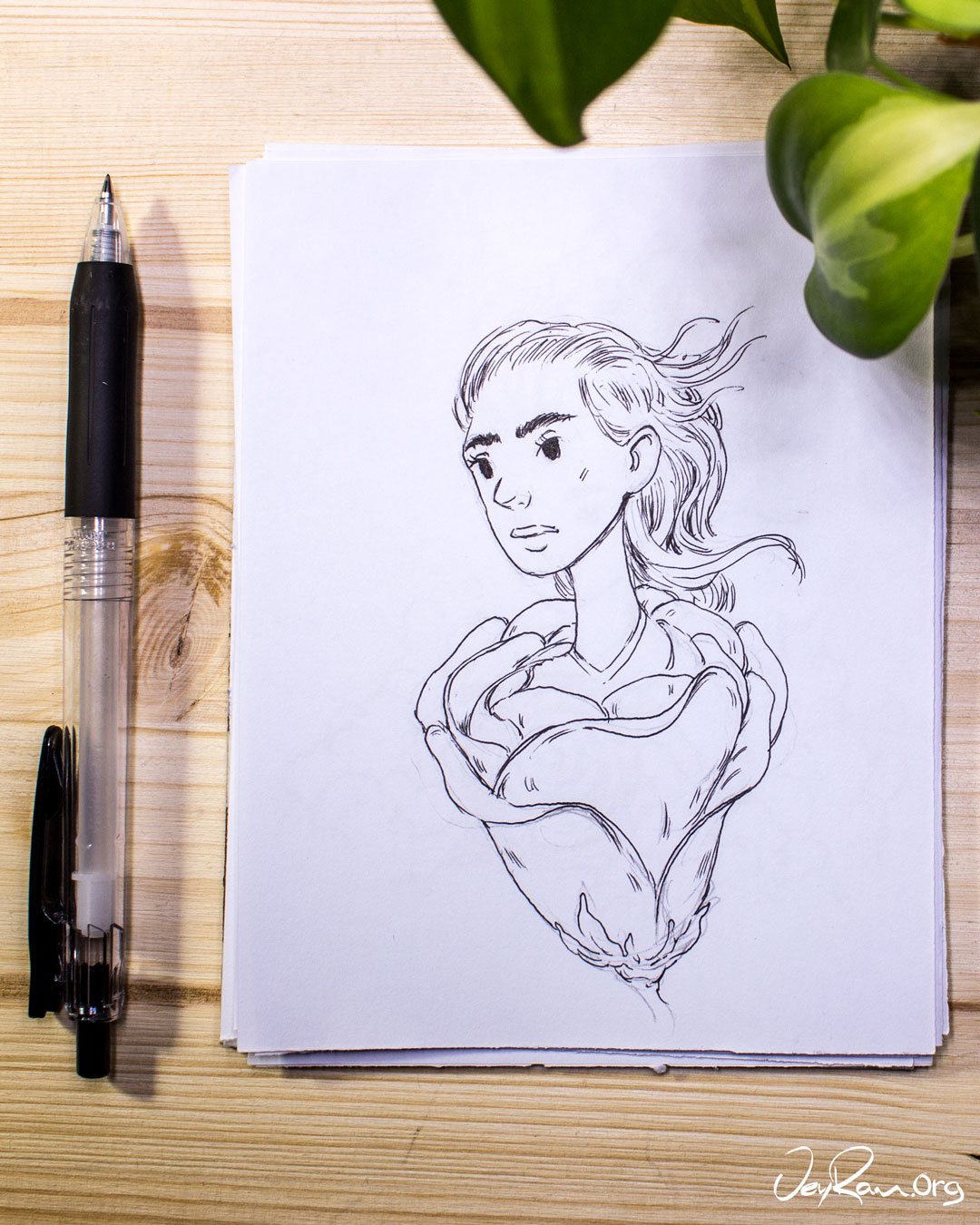 Learn How to Draw Hair with this Video Tutorial by JeyRam #tutorial #howtodraw