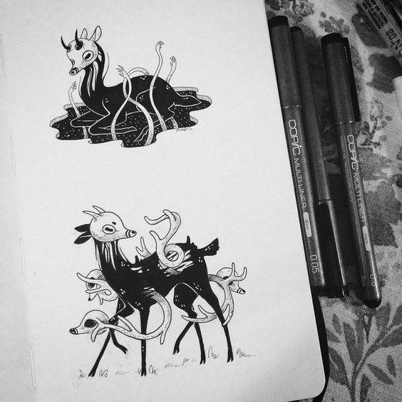 Inktober Art Inspiration & Ideas by Faunwood