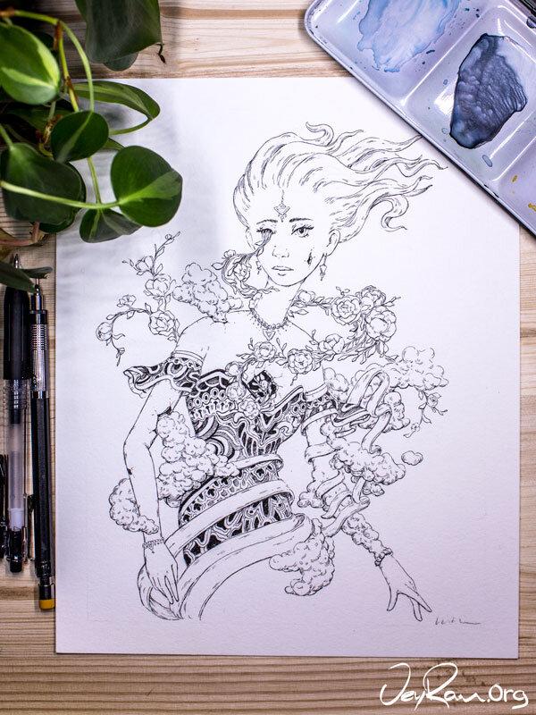 Bait - Inktober 2019 Ballpoint Pen Art by JeyRam. #inktober #inkart #originalart #inktober2019