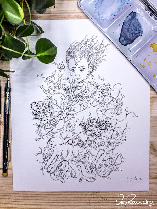 Coat -  Inktober 2019 Ballpoint Pen Art by JeyRam. #inktober #inkart #originalart #inktober2019