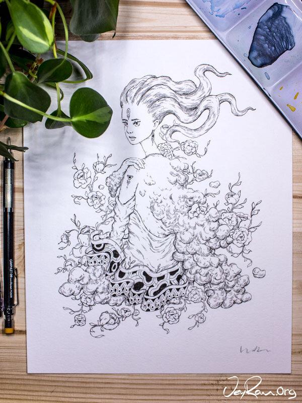 Dizzy  Inktober 2019 Ballpoint Pen Art by JeyRam. #inktober #inkart #originalart #inktober2019