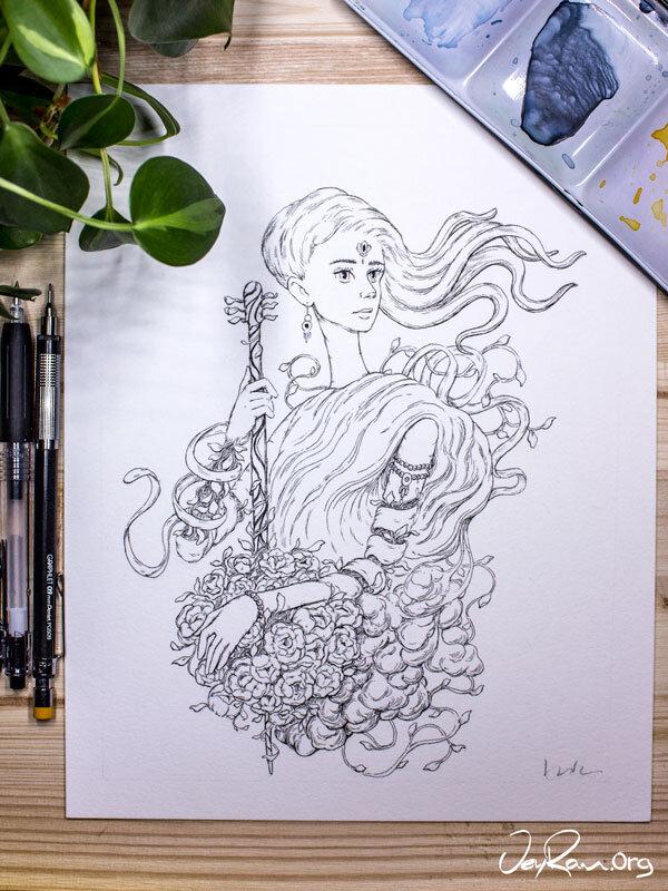 Enchanted  Inktober 2019 Ballpoint Pen Art by JeyRam. #inktober #inkart #originalart #inktober2019