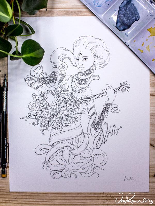 Ornament  Inktober 2019 Ballpoint Pen Art by JeyRam. #inktober #inkart #originalart #inktober2019