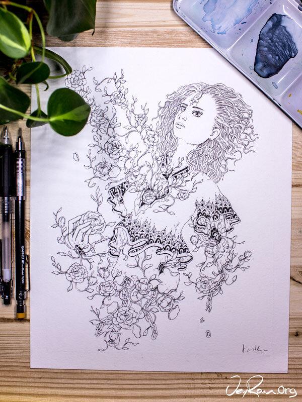 Overgrown  Inktober 2019 Ballpoint Pen Art by JeyRam. #inktober #inkart #originalart #inktober2019