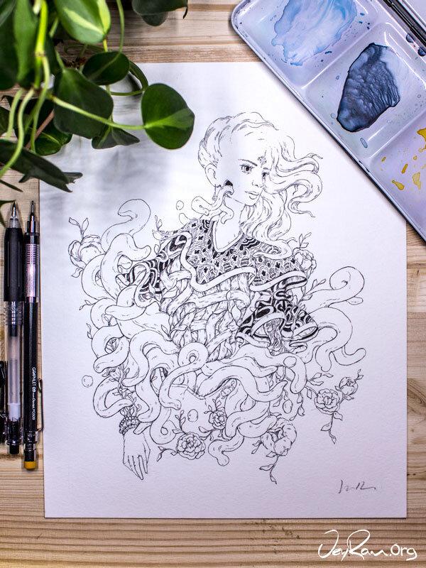 Pattern -  Inktober 2019 Ballpoint Pen Art by JeyRam. #inktober #inkart #originalart #inktober2019